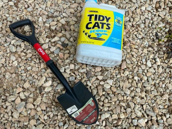 Kitty Litter and Shovel