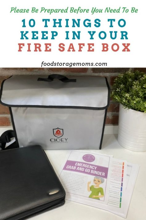 10 Things to Keep in Your Fire Safe Box