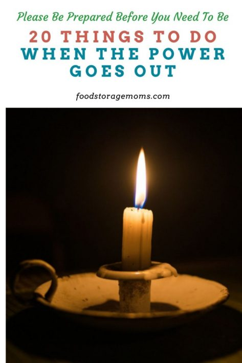 20 Things To Do When The Power Goes Out