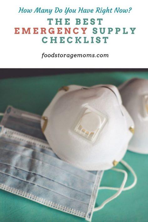 The Best Emergency Supply Checklist
